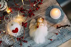Dekorácie - Anjelik na vianočný stromček - 7413704_