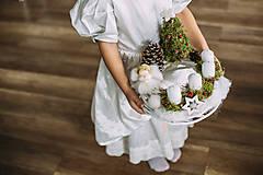 Dekorácie - Adventný veniec s anjelikom - 7413858_