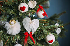 Dekorácie - Anjelské krídla na stromček - 7413957_