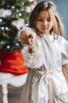 Dekorácie - Mini anjelik na vianočný stromček - 7413644_
