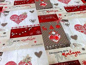Textil - Bavlna režná - Vianočná francúzsky nádych - cena za 10 cm - 7417352_