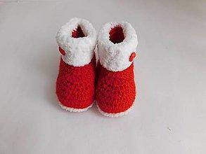 d976c2675e Topánočky - Červené papučky-na objednávku - 7415419