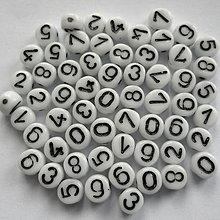 Korálky - Číslice sklo-MIX 60ks - 7417937_