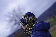 Čiapky - keď padá hviezda:) čiapka k nákrčníku babušníku - 7414306_
