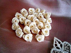 Kytice pre nevestu - Saténové ružičky priemer 2,0cm - 7416566_