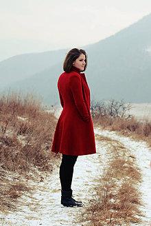 Kabáty - Červený kabát - 7413804_