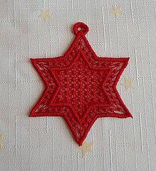 Dekorácie - Vianočná ozdoba hviezdička č. 19 - 7418234_