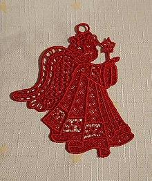Dekorácie - Vianočná ozdoba anjelik č. 13 - 7418295_
