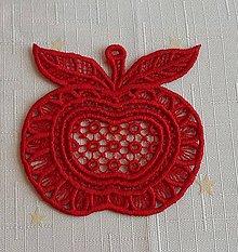 Dekorácie - Vianočná ozdoba jabĺčko č. 21 - 7418427_