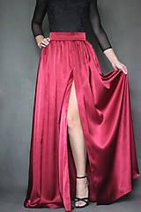 Sukne - Spoločenská saténová sukňa rôzne farby - 7416441_