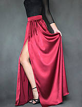 Sukne - Spoločenská saténová sukňa rôzne farby - 7416547_