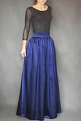 Sukne - Spoločenská sukňa z kvalitného hrubšieho saténu s matným leskom rôzne farby - 7416650_