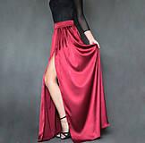 - Spoločenská saténová sukňa rôzne farby  - 7416744_
