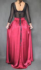 Sukne - Spoločenská saténová sukňa rôzne farby - 7416777_