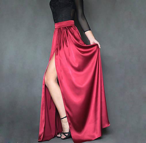 Spoločenská saténová sukňa rôzne farby
