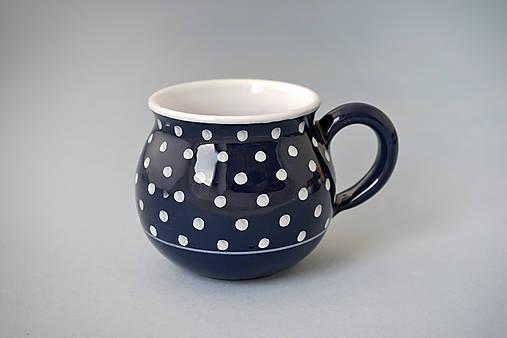 Buclák 8 puntík - černý (temněmodrý)