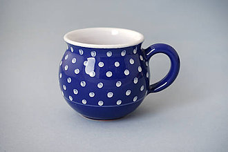 Nádoby - Buclák 8 cm puntík - modrý - 7415188_