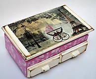 Krabičky - Šperkovnica so zrkadlom - 7418183_