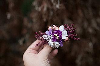 Ozdoby do vlasov - Kvetinová spona