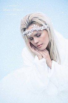 Ozdoby do vlasov - Zimný ľadový polvenček \