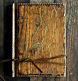 Papiernictvo - Staré drevo,vintage diár 2019 pánsky,pre muža i ženu-posledný kus - 7415625_