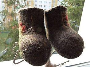 Topánočky - Vlnené čižmičky pre batoľa - 7415094  37a3f2f1916