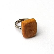 Prstene - Jaseňový zaoblený obdĺžniček - 7417838_