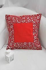 Úžitkový textil - _ČervenoStrieborné Vianoce... poťah... II - 7421971_