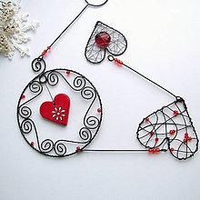 Dekorácie - srdiečkový záves....vianoce - 7421382_