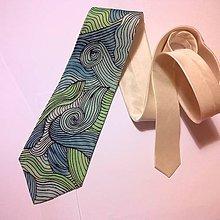 Doplnky - kravata Vlnky - 7422122_