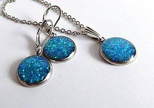 Sady šperkov - Modro-zelená sada z chirurgické oceli - 7418850_