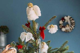 Dekorácie - Anjelik na vrch stromčeka - 7419782_