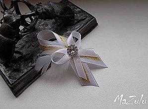 Pierka - svadobné pierko v zlatom - 7419604_