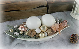 Svietidlá a sviečky - Vianočné aranžmá_ vtáčik - 7422346_