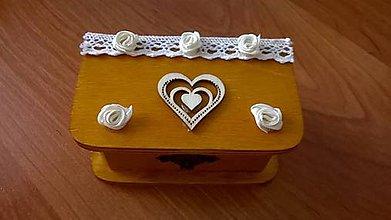 Prstene - ***VÝPREDAJ*** Svadobná krabička na prstienky - 7419417_