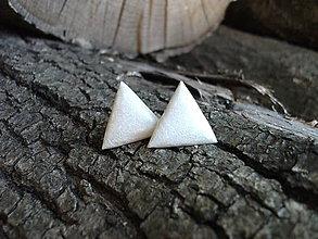 Náušnice - Trojuholníky 20 mm (maslové) - 7421871_