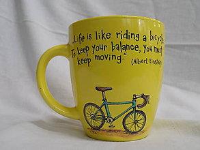 Nádoby - Hrnček - Einstein Bike (žltý) - 7419801_