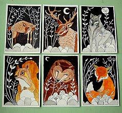 Kresby - kresby lesných zvierat - 7420044_