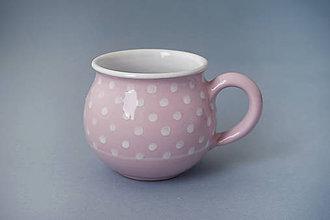 Nádoby - Buclák 8 cm puntík - růžový - 7421015_