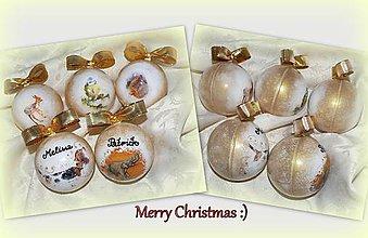 Dekorácie - Vianočné gule so zvieratkami :) - 7419019_