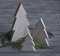 Dekorácie - stojacie stromčeky drevené - 7421579_
