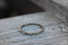 Prstene - steampunk prsteň striebro/zlato - 7420238_
