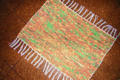 - Tkaný malý oranžovo-hnedo-zelený koberec - 7421664_
