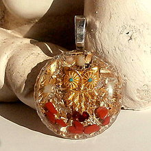 Náhrdelníky - ORGONIT *Symbol moudrosti, Sova*, zl1 - 7426805_