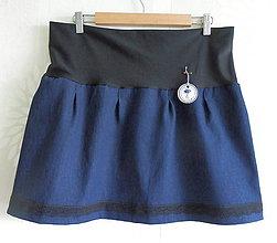 Tehotenské oblečenie - *Riflová sukýnka pro těhulky* - 7424132_