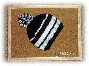 Detské čiapky - Detská čiapka - Čiernobiela - 7428185_