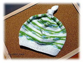 Detské čiapky - Detská čiapka - Bielozelená - 7428871_