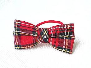 Ozdoby do vlasov - Kráľovská škótska mašlička do vlasov - 7427527_