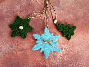 Dekorácie - Plstené vianočné I. - 7425287_