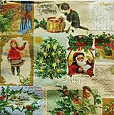 - S894 - Servítky - retro, vianoce, santa, bubon, mačička, stromček - 7423857_